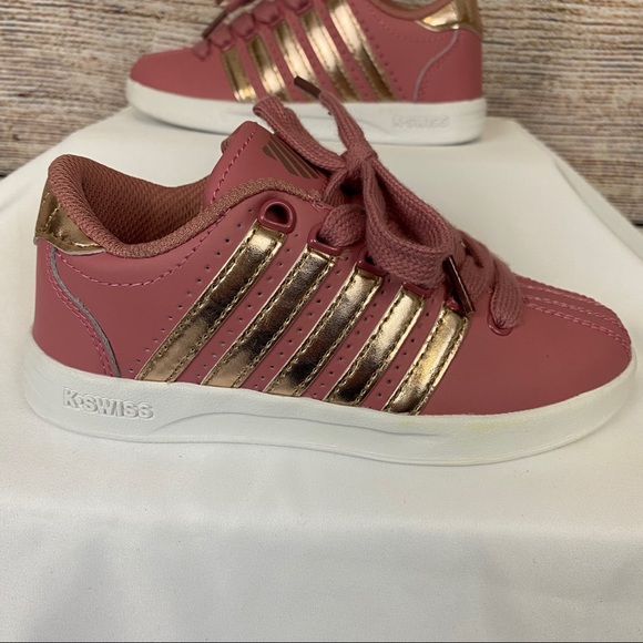 Kswiss Pink And Rose Gold Sneakers